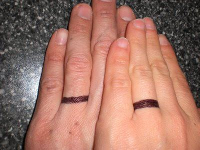 wedding ring tattoos for couples real common sense reviews book wedding band ring