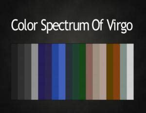 virgo color the astrology colour spectrums love light astrology