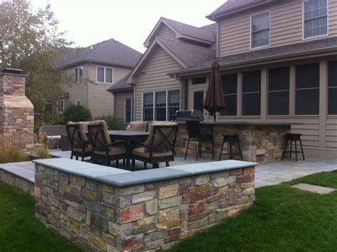 Patio Designs Naperville Naperville Bluestone Patio Outdoor Kitchen And Fireplace