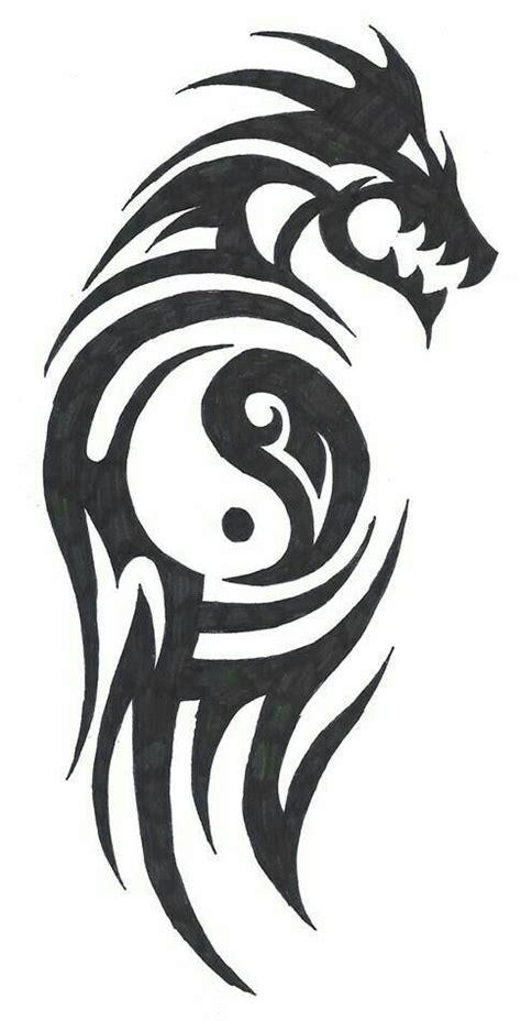 tribal tattoo yin pin by myron vance on tattoos