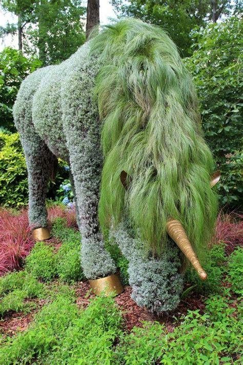 Garten Deko Einhorn by Garten Skulpturen Zum Selbermachen Einhorn Graeser Maehne