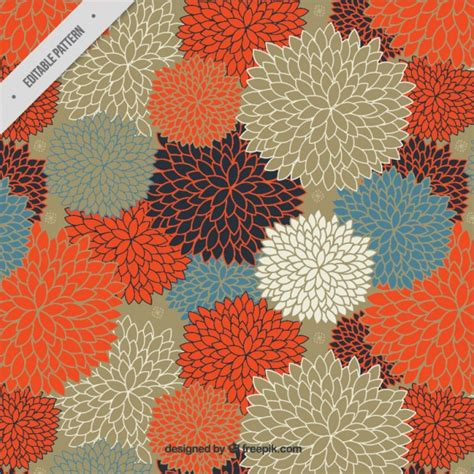 pattern warm color amazing floral pattern in warm colors vector free download