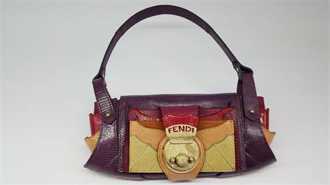 Guess Who The Vintage Fendi Crocodile Tote by Fendi Lizard Skin Handbag Vintage Shop In Mykonos