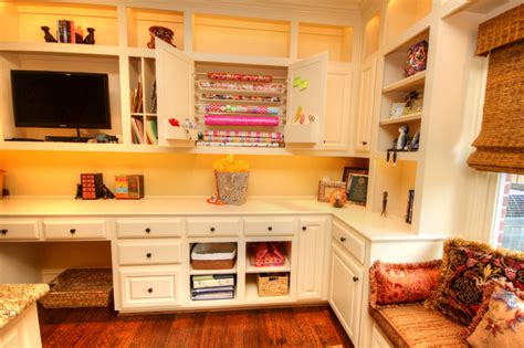 Home Office Craft Room Design Craft Room Traditional Home Office Dallas By
