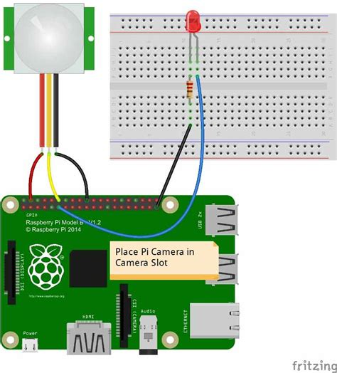 fritzing project raspberry pi intruder alert with pi
