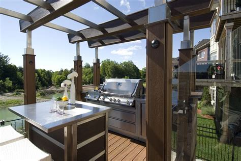 with two stainless steel pergolas this deck is a stunner