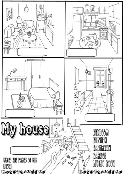 my house in spanish 14 best images of spanish house worksheet worksheet label parts of a house class