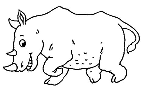 free coloring pages of rhinoceros