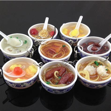 Bowl Food Key Chain Gantungan Kunci Small 6 Pcs compare prices on noodles shopping buy low