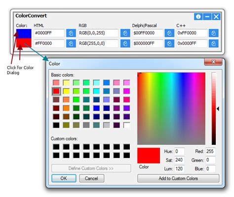 colorconvert convert color code to rgb html delphi pascal c indrayn