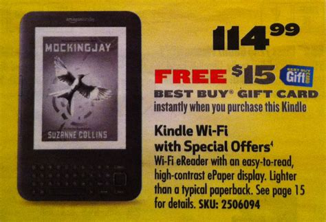 Best Buy Kindle Gift Card - best buy great deal on kindle 114 99 free 15 best buy gift card