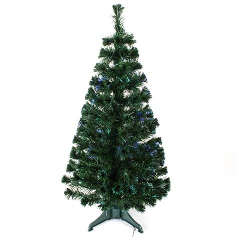 3ft 4ft 5ft green fibre optic christmas tree with