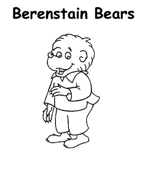 berenstain bear coloring page berenstain bears coloring pages coloringsuite com