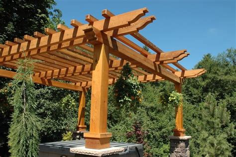 Beautiful Western Red Cedar Pergola Western Cedar Pergola