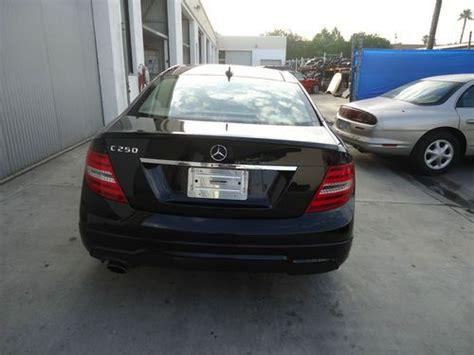 mercedes c250 2 door buy used mercedes 2013 black c250 2 door sport coupe