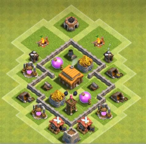 layout base coc th 3 top gold and elixir protecting th3 base design cocbases