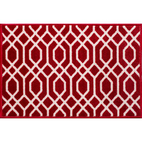 Kmart Kitchen Rugs Essential Home Lithos 20x30 Floormat Red White Home