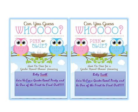 17 Free Gender Reveal Invitation Templates Template Lab Gender Reveal Invitation Template