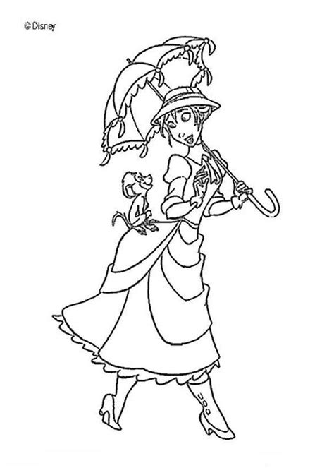 tarzan and jane coloring pages coloring home
