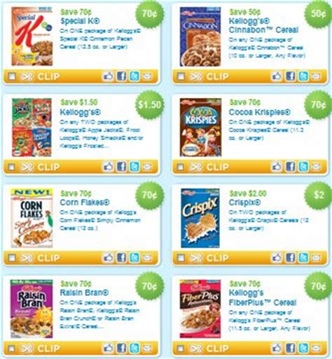 printable grocery coupons by brand 1000 images about smart money on pinterest cereal