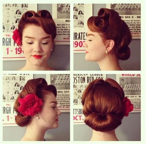 step by step how to do a 1940s updo step by step how to 1940s hairstyles pin curls set your