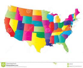 usa map vector royalty free stock image image 3996286