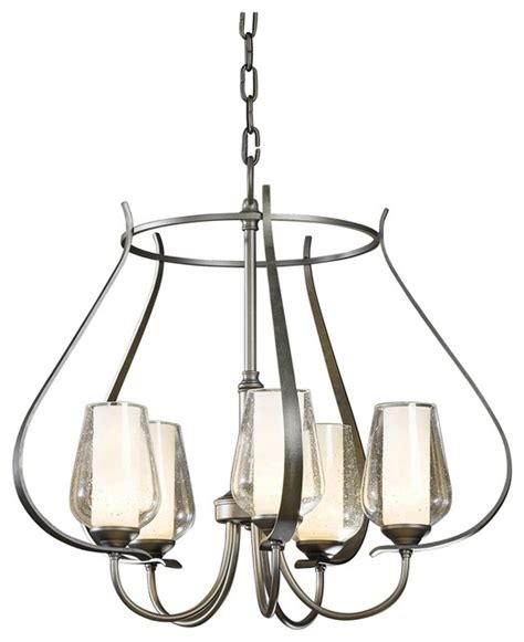 Seeded Glass Chandelier Hubbardton Forge Flora 22 1 4 Quot Wide Seeded Glass Chandelier Contemporary Chandeliers
