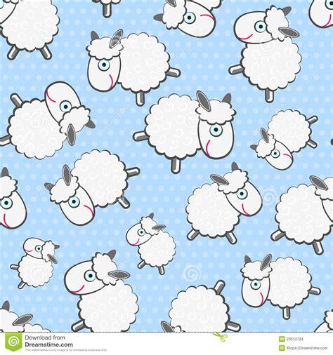 cute lamb pattern cute white sheeps seamless pattern stock images image