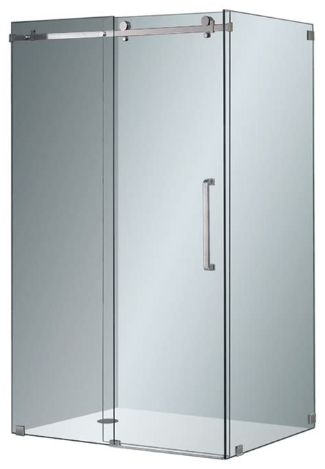 Frameless Shower Door Kits Aston Completely Frameless Sliding Shower Door Enclosure Chrome Modern Shower Stalls And