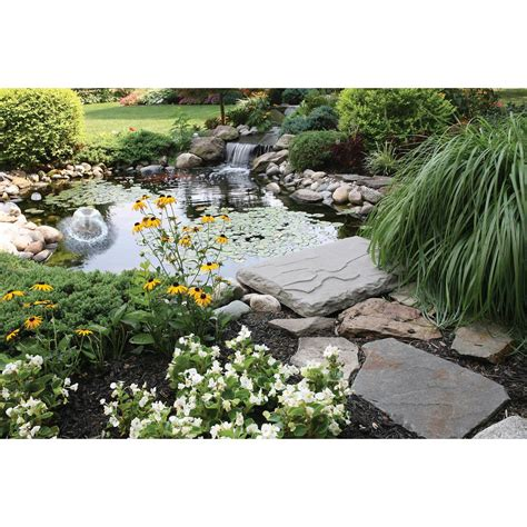 Garden Pond Kits by Koolatron 400 Gal Pond Kit With Solar Light Kspk 400 Sl