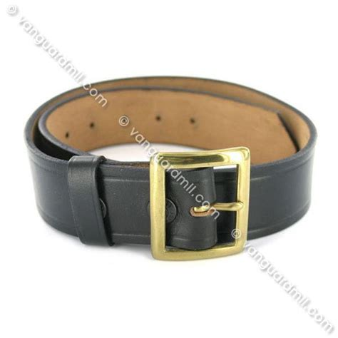 usn heavy duty leather belt with brass buckle vanguard