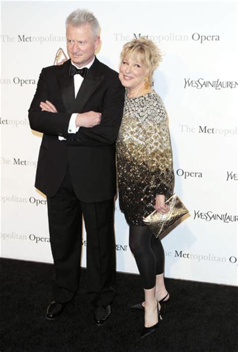 bette midler spouse at metropolitan opera premiere of quot armida quot in new york