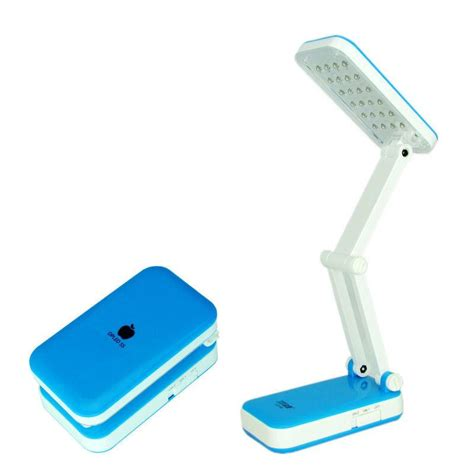 Portable Desk Light by Foldable Folding Rechargeable Table Reading Light 24 Led