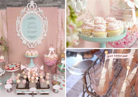 shabby chic bridal shower two pink canaries