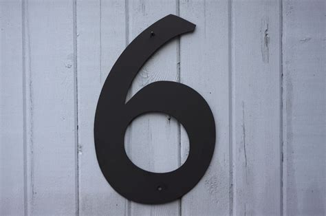 house numbers 8 metal house numbers modern powder coated black or