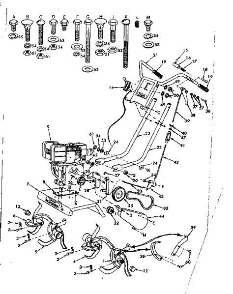 craftsman model  front tine gas tiller genuine parts