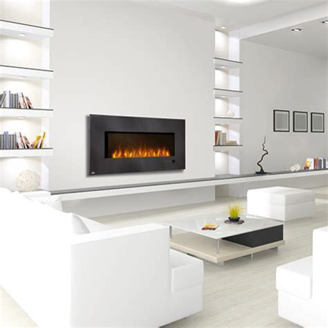 electric fireplace wall mount modern napoleon 48 inch slimline black wall mount electric