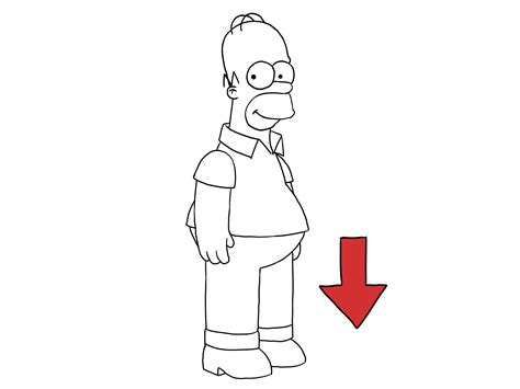 How To Draw The Simpsons On The by How To Draw Homer With Pictures Wikihow