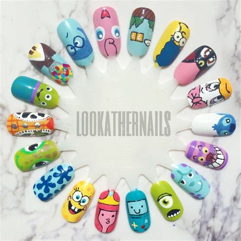 easy nail art characters cartoon nail art wheel featuring characters from disney