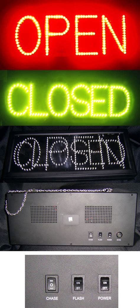 Lighted Open Sign by Led Lighted Open Closed Blinking Flash Neon Light Sign Ebay