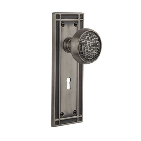 Craftsman Door Hardware by Complete Door Hardware Set With Mission Plate With