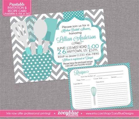 stock  kitchen bridal shower invitation  recipe