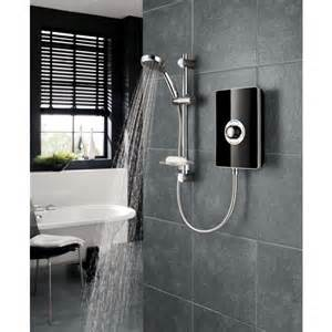 triton aspirante 8 5kw electric shower black gloss