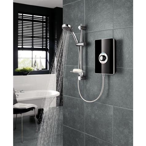 Electric Shower by Triton Aspirante 8 5kw Electric Shower Black Gloss