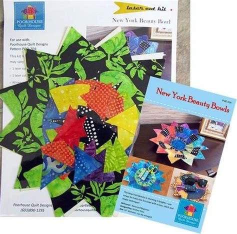 new york bowl laser cut kit stina s quilt and