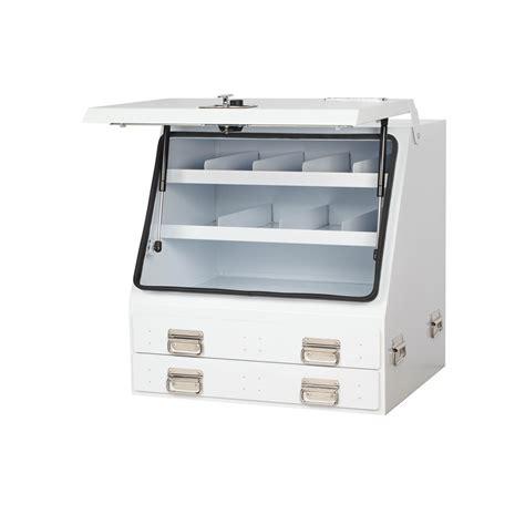 Truck Box Storage Drawers by Upright Truck Box 2 Drawer White Vehicle Storage 46
