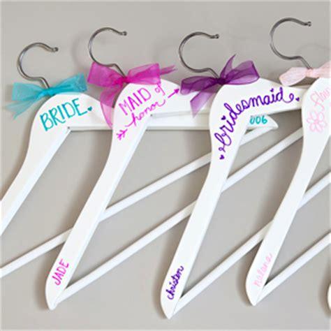 Handmade Gifts For Bridesmaids - simple diy sharpie wedding hangers something turquoise