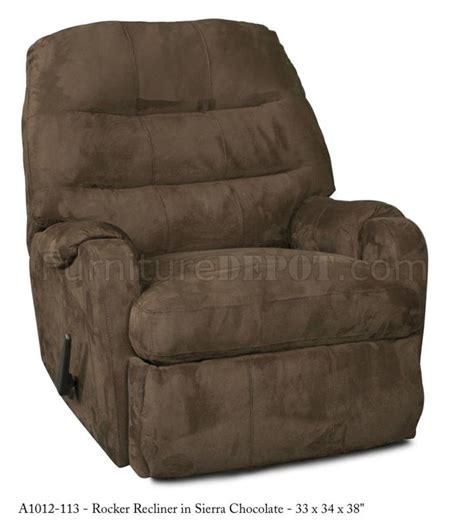 modern rocker recliner chocolate fabric elegant modern handle rocker recliner