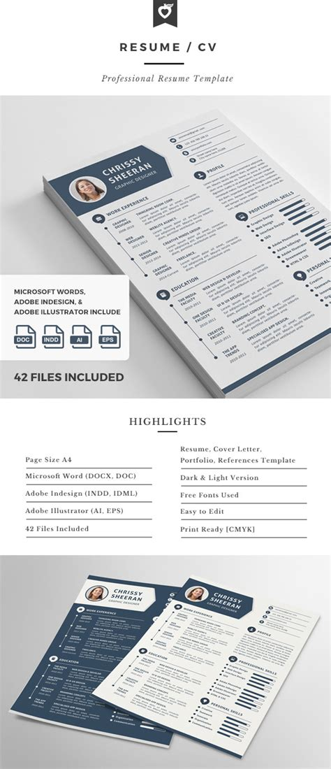 18 Creative Infographic Resume Templates For 2018 Infographic Indesign Template
