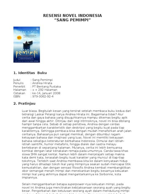 format resensi novel contoh resume novel resume ideas